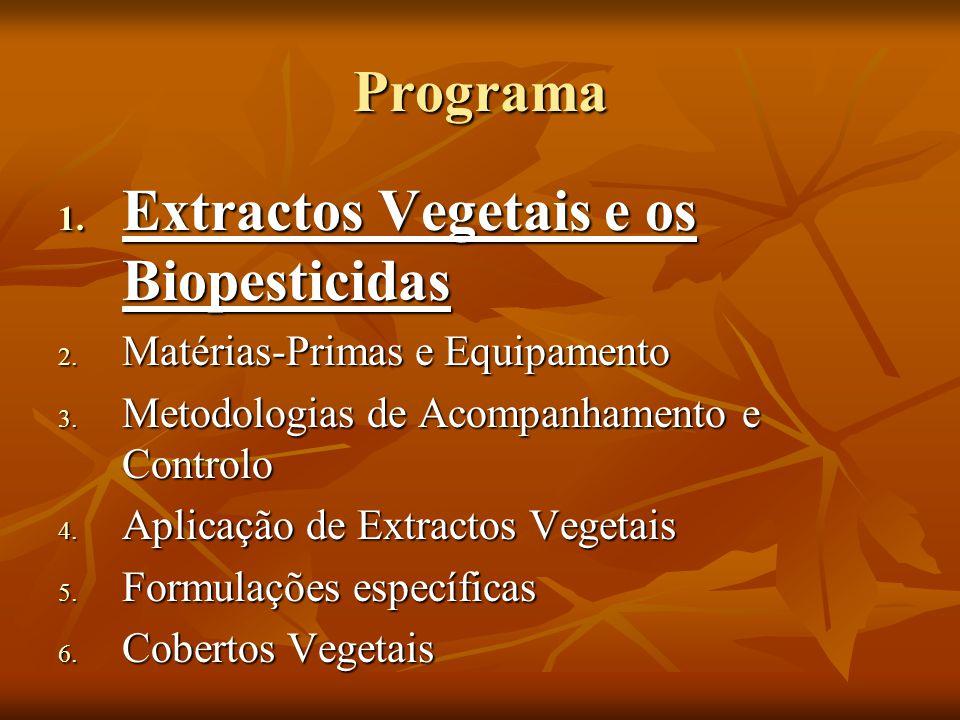 Extractos Vegetais e os Biopesticidas 1.Origens e Aplicações « 2.