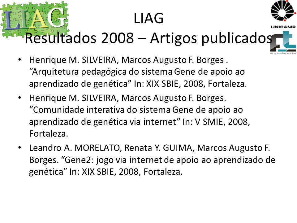 LIAG Resultados 2008 – Artigos publicados Leandro A.