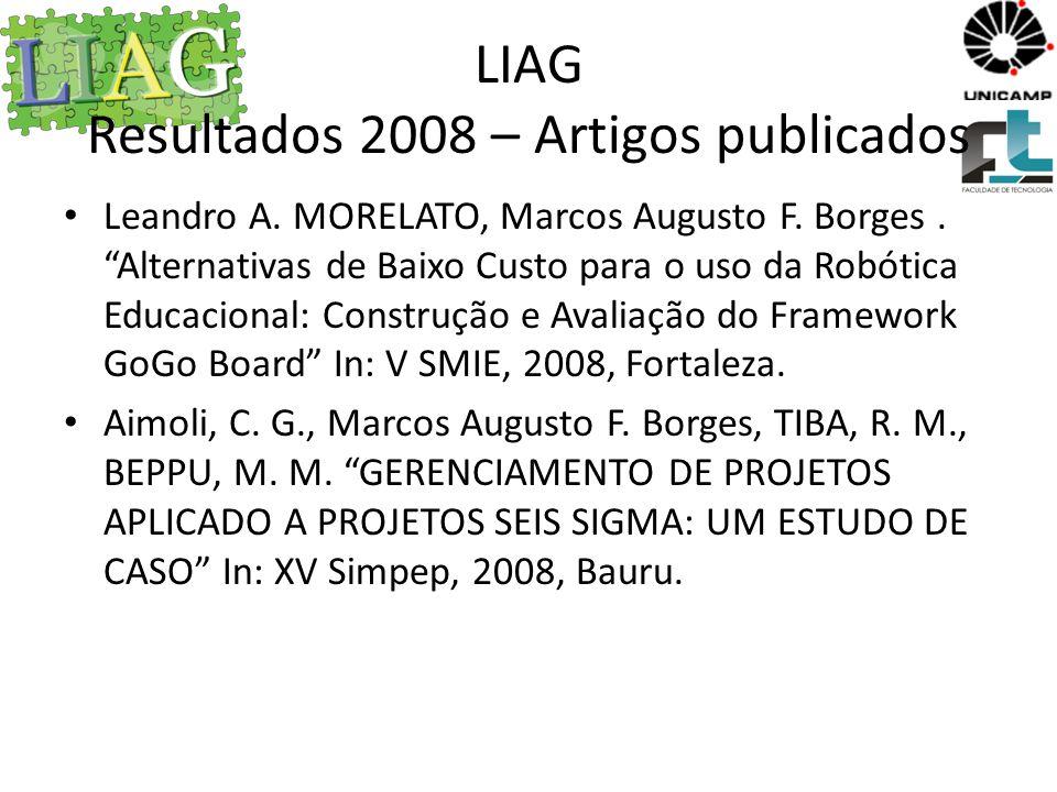 LIAG Resultados 2009 – Artigos publicados SILVEIRA, H.