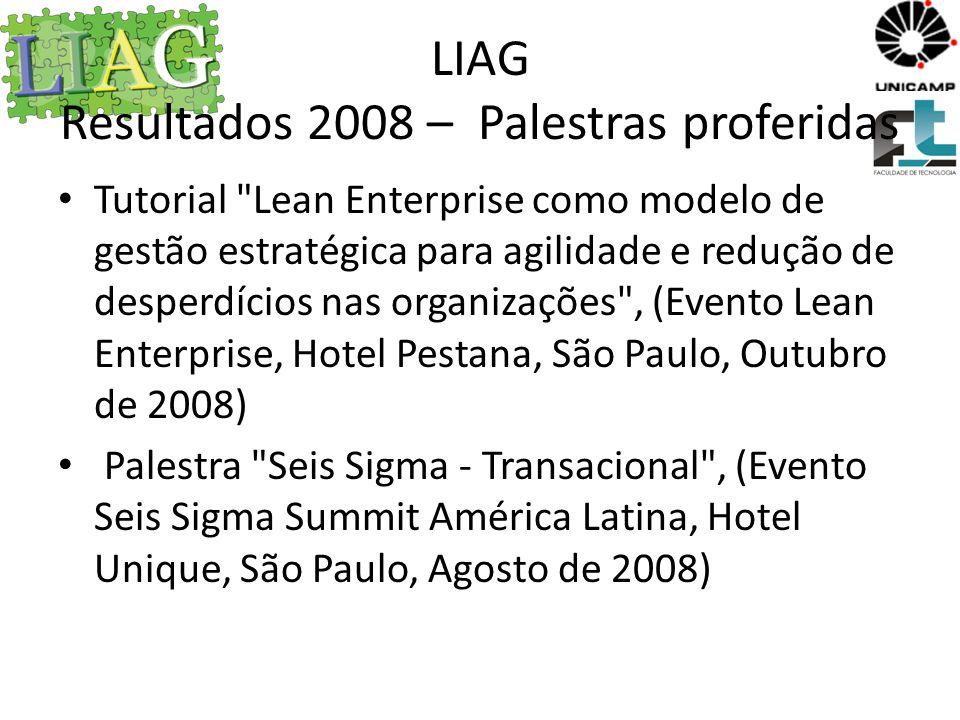 LIAG Resultados 2009 – Palestras proferidas Portugal