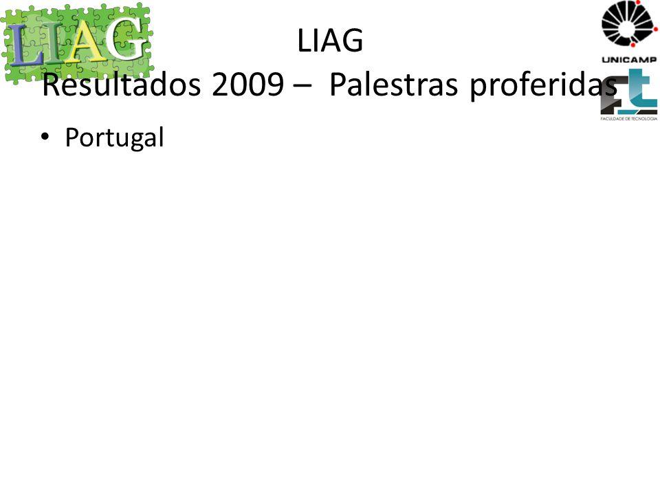 LIAG Resultados 2010 – Palestras proferidas Semana LIAG Torneio Robocode O mercado de trabalho de informática, BORGES, M.