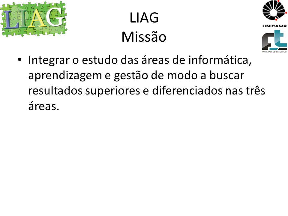 LIAG Visão Ser reconhecido como um laboratório com resultados acadêmicos relevantes e com forte interação com a comunidade.