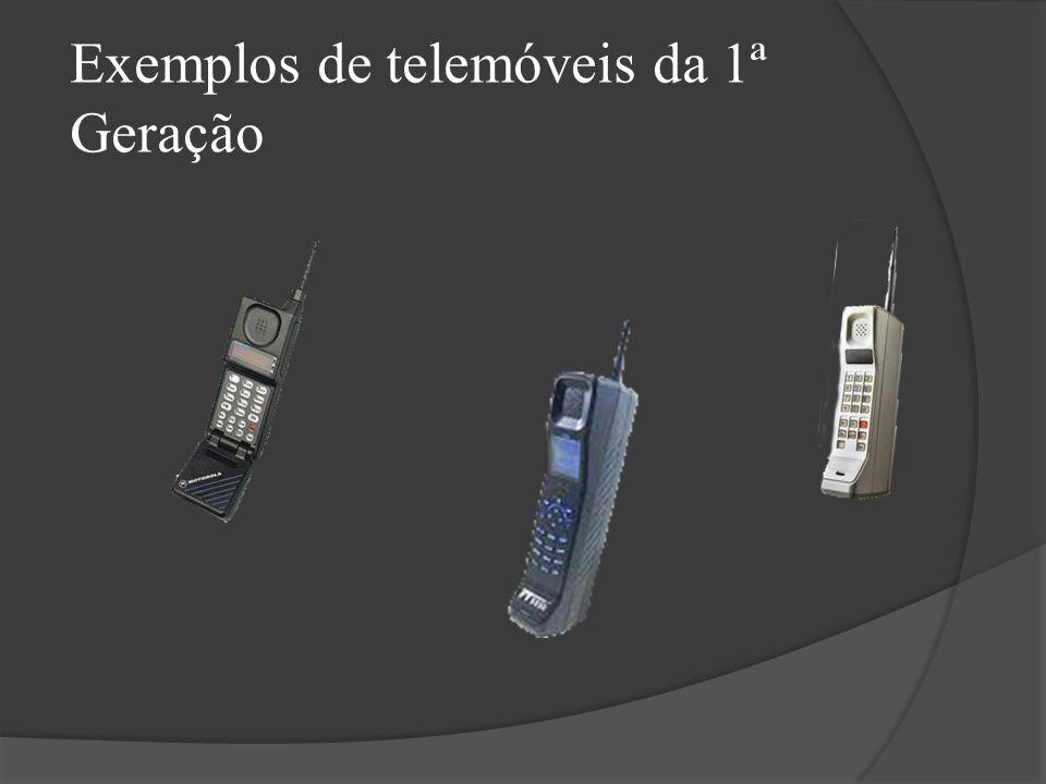 Exemplos de telemóveis da 1ª Geração