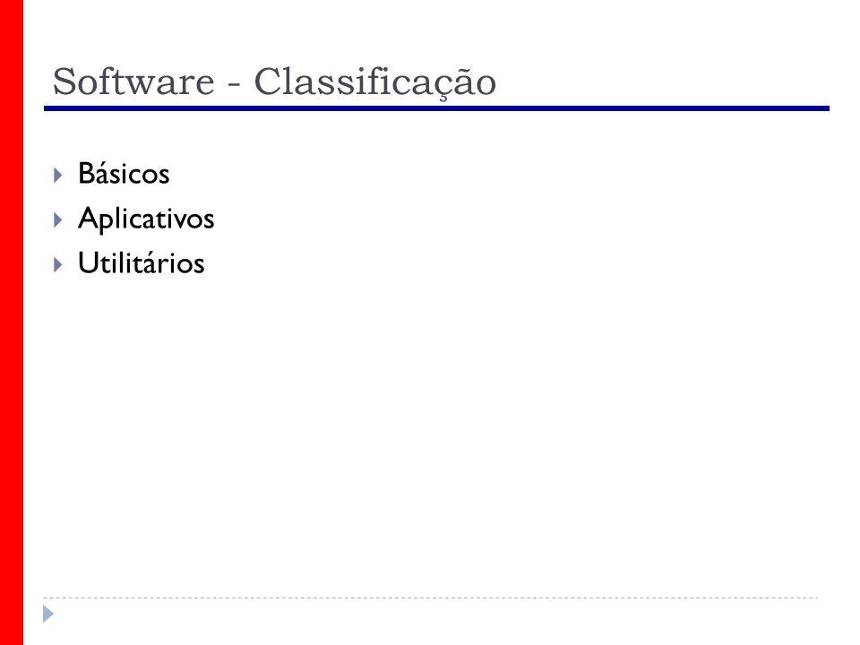 Software - Classificação Básicos Aplicativos Utilitários