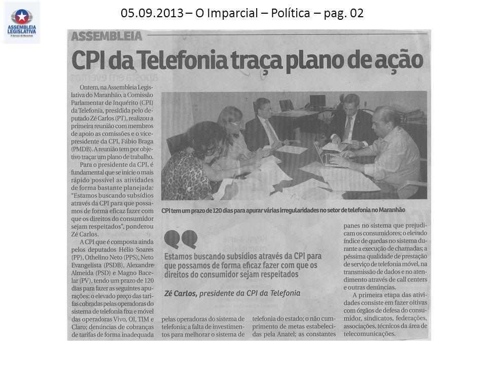 05.09.2013 – O Imparcial – Política – pag. 02