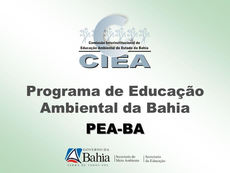 Programa de Educação Ambiental da Bahia PEA-BA