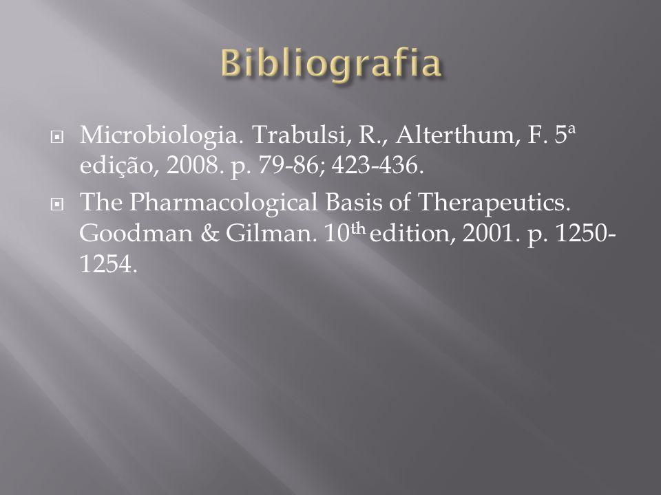 Microbiologia.Trabulsi, R., Alterthum, F. 5ª edição, 2008.