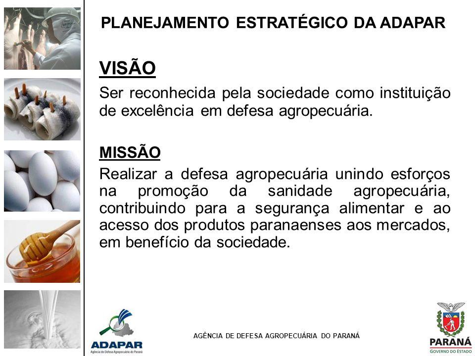 AGÊNCIA DE DEFESA AGROPECUÁRIA DO PARANÁ A ESTRUTURA ORGANIZACIONAL E A METODOLOGIA DE TRABALHO DEVERÃO CONFERIR: - Mais sinergia entre os stakeholders.