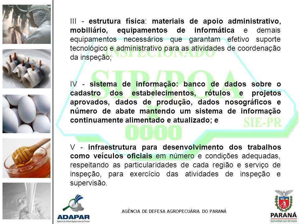 III - estrutura física: materiais de apoio administrativo, mobiliário, equipamentos de informática e demais equipamentos necessários que garantam efet