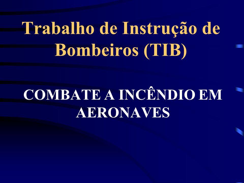 Trabalho de Instrução de Bombeiros (TIB) COMBATE A INCÊNDIO EM AERONAVES