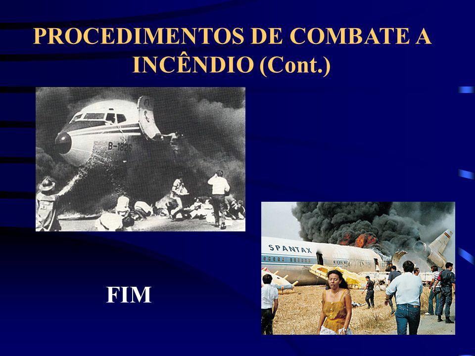 PROCEDIMENTOS DE COMBATE A INCÊNDIO (Cont.) FIM
