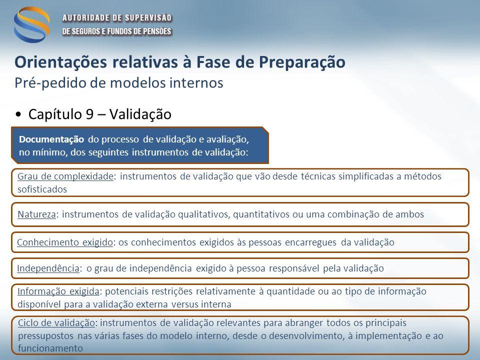 Documentação do processo de validação e avaliação, no mínimo, dos seguintes instrumentos de validação: Grau de complexidade: instrumentos de validação