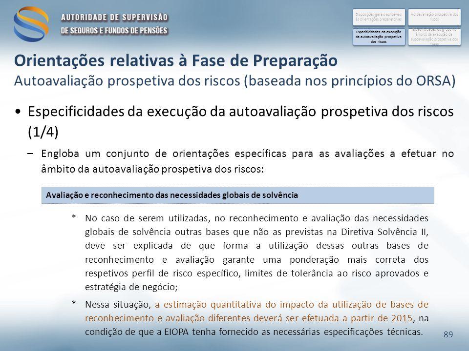 Especificidades da execução da autoavaliação prospetiva dos riscos (1/4) –Engloba um conjunto de orientações específicas para as avaliações a efetuar