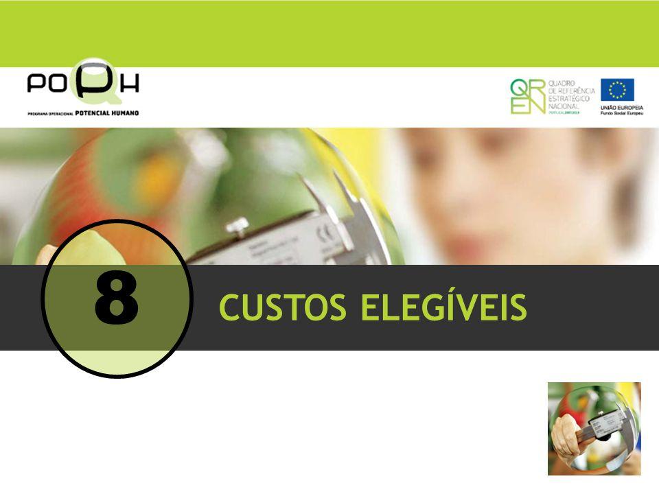 CUSTOS ELEGÍVEIS 8