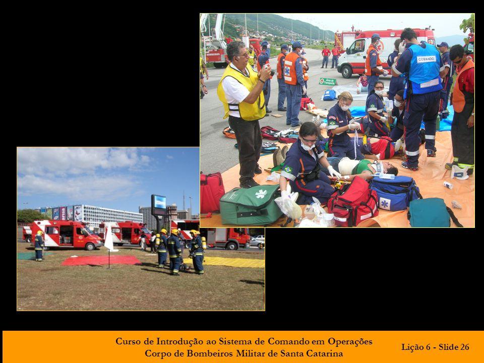 Curso de Introdução ao Sistema de Comando em Operações Corpo de Bombeiros Militar de Santa Catarina Lição 6 - Slide 26