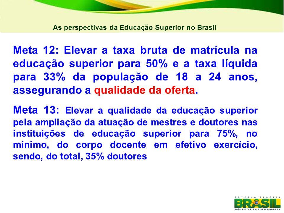 As perspectivas da Educação Superior no Brasil FORMAÇÃO DE PROFESSORES Todas as estratégias estão de alguma forma ligadas as IES públicas, no entanto algumas são mais relevantes na perspectiva de alavancar o ensino superior brasileiro.