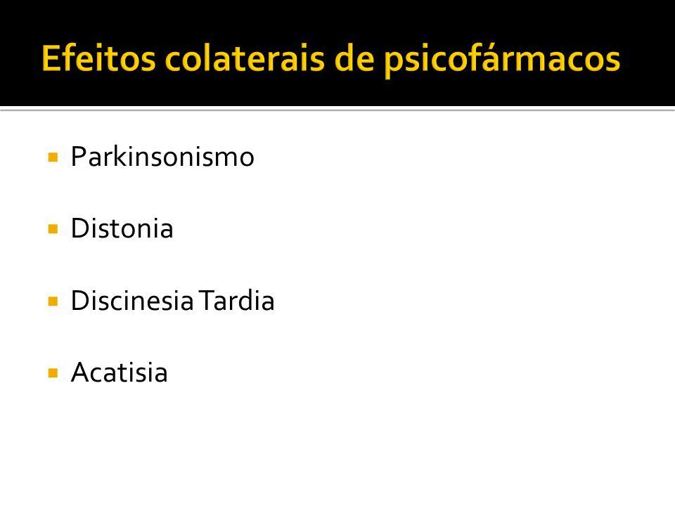 Parkinsonismo Distonia Discinesia Tardia Acatisia
