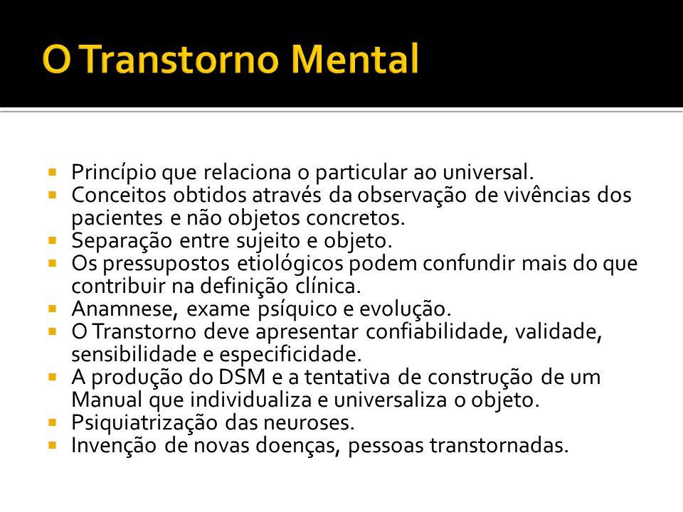Princípio que relaciona o particular ao universal.