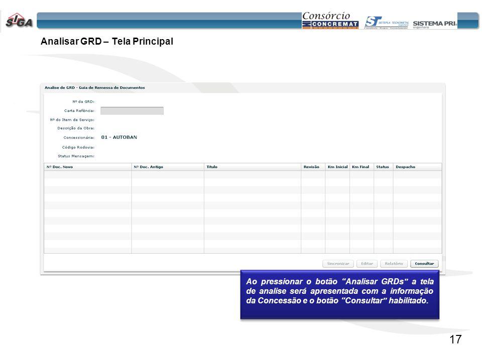 18 Informações apresentadas na tabela de Documentos: 1.Nº Doc.
