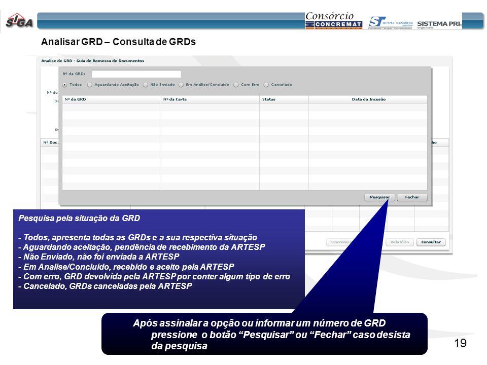 20 O botão Sincronizar realiza a transmissão de dados entre Concessão e PRODESP.