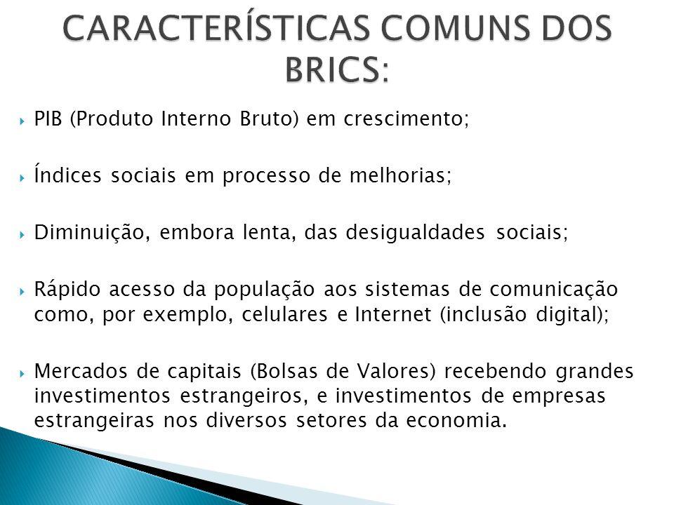 Brasil: R$ 4,84 trilhões ou US$ 2,07 trilhões (ano de 2013); Rússia: US$ 2,50 trilhões (2012); Índia: US$ 4,78 trilhões (2012); China: US$ 8,28 trilhões (2012); África do Sul: US$ 578,6 bilhões (2012).