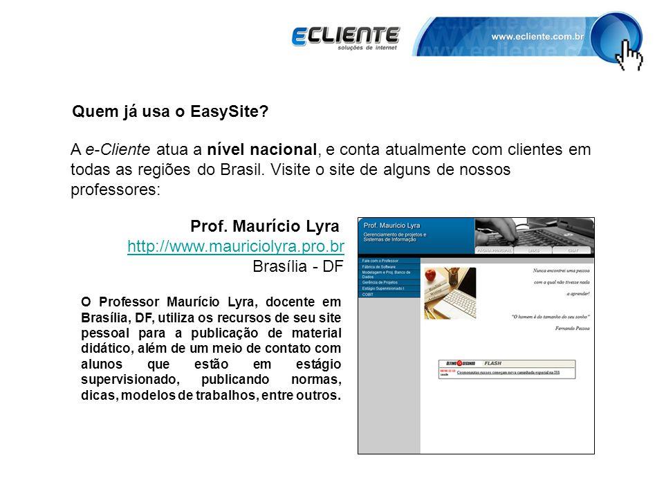 Quem já usa o EasySite.