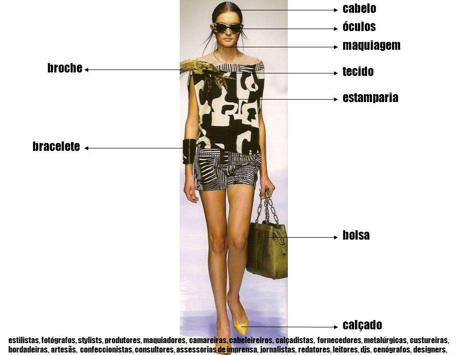 cabelo maquiagem tecido óculos estamparia bolsa calçado bracelete broche estilistas, fotógrafos, stylists, produtores, maquiadores, camareiras, cabele
