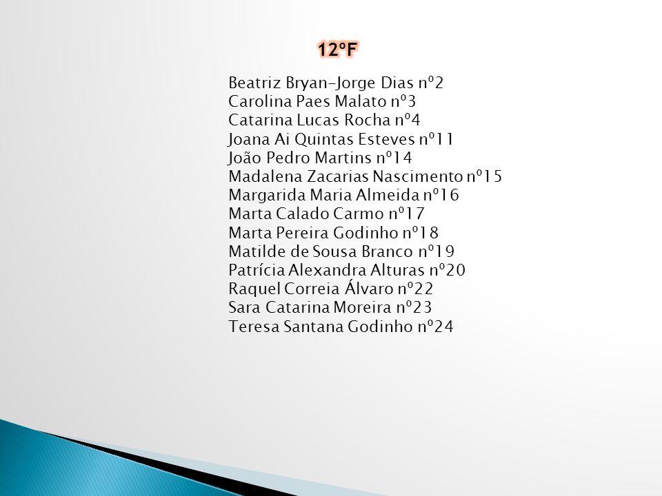 Francisca Saramago Fernandes nº4 Francisco Santos Ferreira nº7 Pedro Miguel Angélico nº22 Ana Catarina Cardoso nº1 Beatriz Salvada nº6 Hugo Bettencour