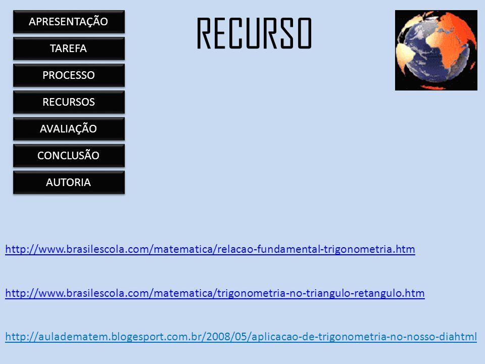 http://www.brasilescola.com/matematica/relacao-fundamental-trigonometria.htm http://www.brasilescola.com/matematica/trigonometria-no-triangulo-retangu