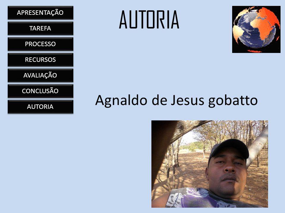 Agnaldo de Jesus gobatto AUTORIA APRESENTAÇÃO TAREFA PROCESSO RECURSOS AVALIAÇÃO CONCLUSÃO AUTORIA
