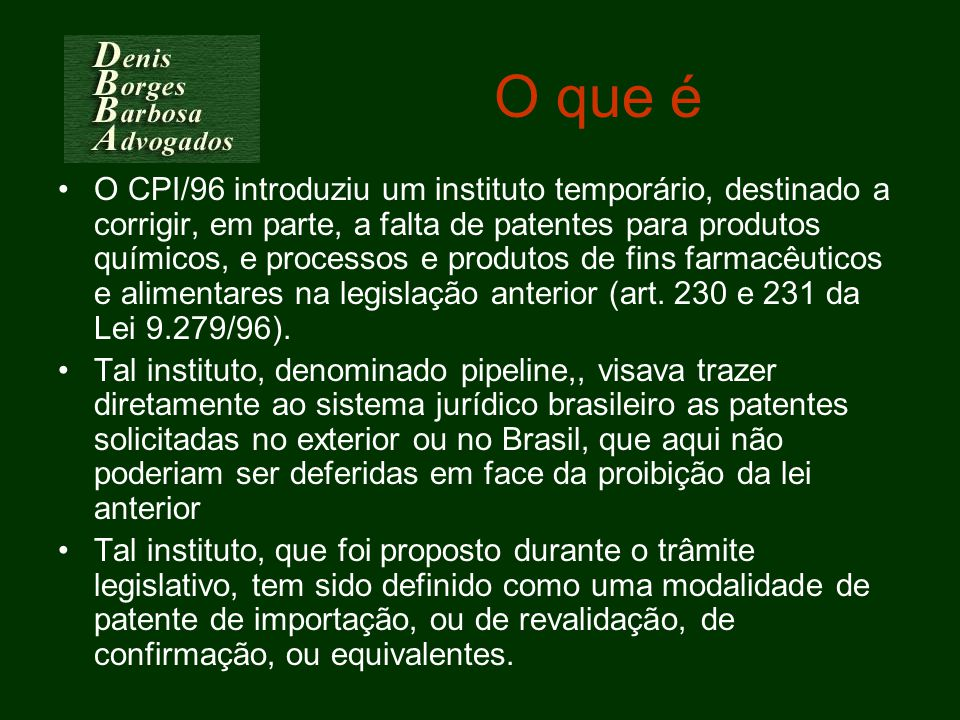 Posição brasileira Dar pipeline ao invés de Mailbox & EMR –Art.