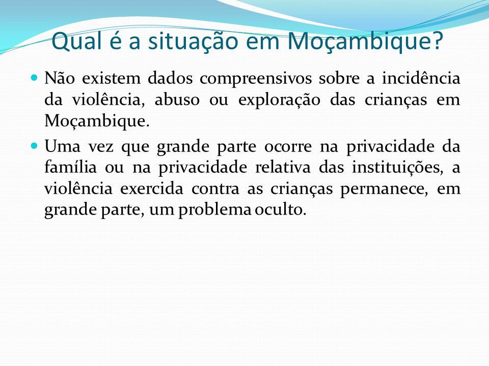 Qual é a situação em Moçambique.