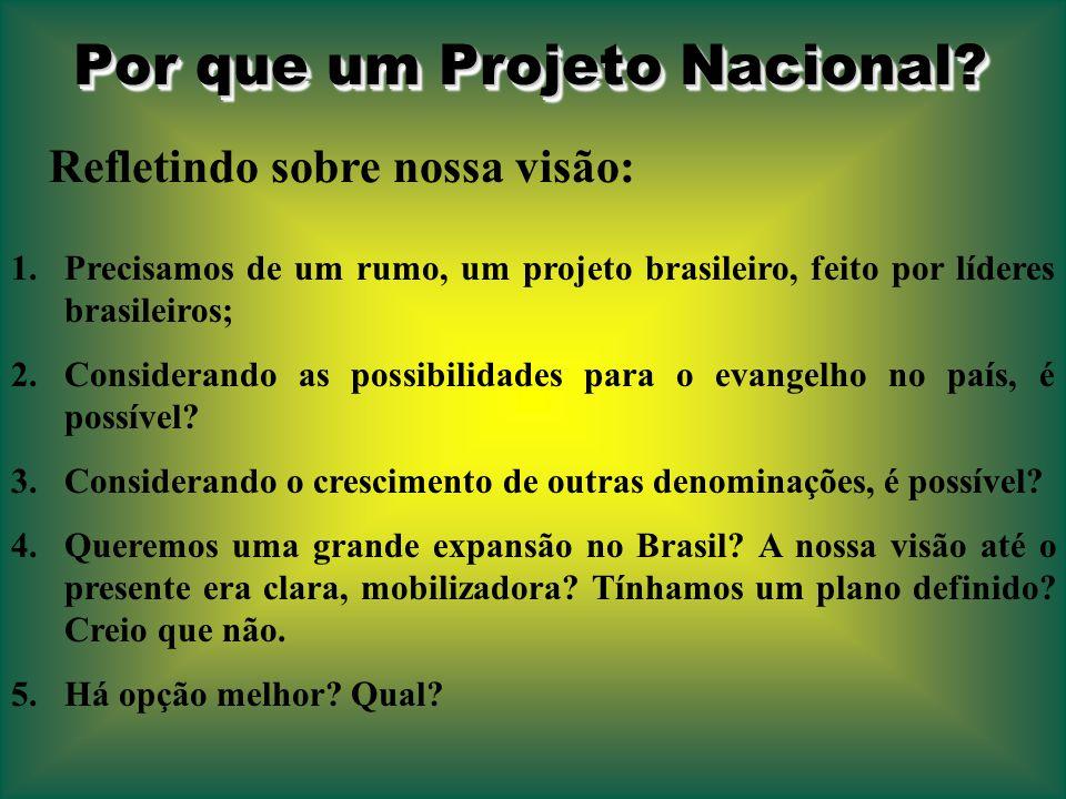 Por que um Projeto Nacional.