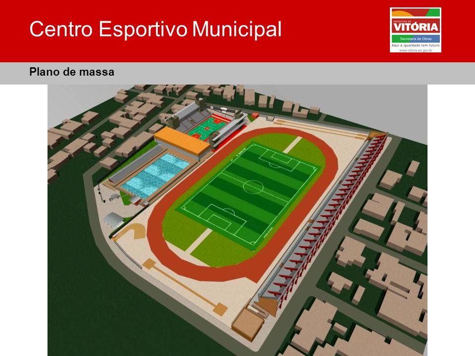Centro Esportivo Municipal Plano de massa
