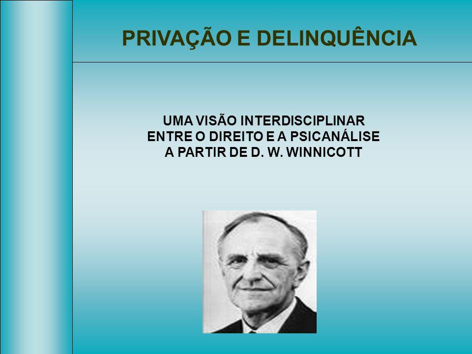 PRIVAÇÃO E DELINQUÊNCIA UMA VISÃO INTERDISCIPLINAR ENTRE O DIREITO E A PSICANÁLISE A PARTIR DE D. W. WINNICOTT