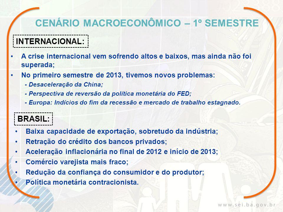 Superintendência de Estudos Econômicos e Sociais da Bahia - SEI www.sei.ba.gov.br Diretoria-Geral José Geraldo dos Reis Santos geraldoreis@sei.ba.gov.br Coordenação de Contas Regionais (COREF) joaopaulo@sei.ba.gov.br dveloso@sei.ba.gov.br