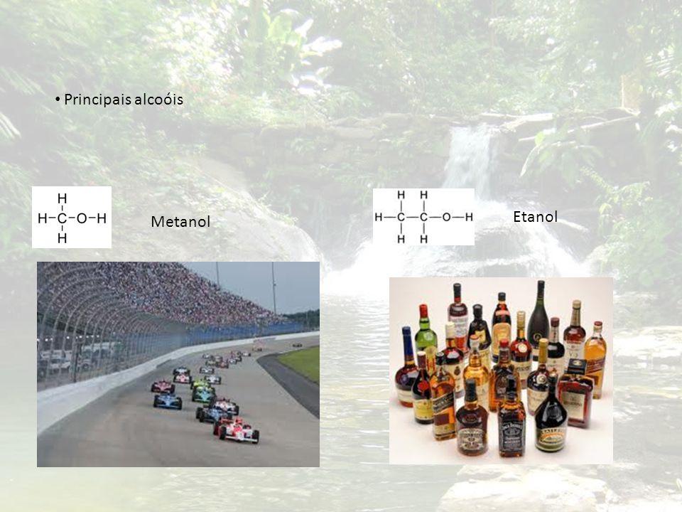 Principais alcoóis Metanol Etanol