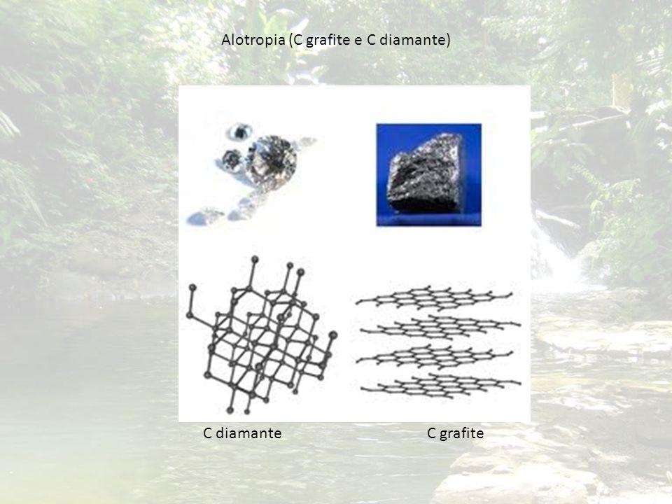 Alotropia (C grafite e C diamante) C diamante C grafite