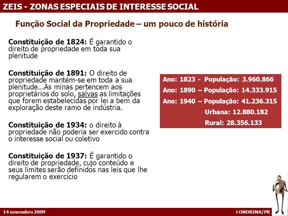 14 novembro 2009 LONDRINA/PR ZEIS - ZONAS ESPECIAIS DE INTERESSE SOCIAL Londrina - Projeção da demanda de domicílios, por município, 2003-2023 [1] [1] Fonte: OLIVEIRA E.