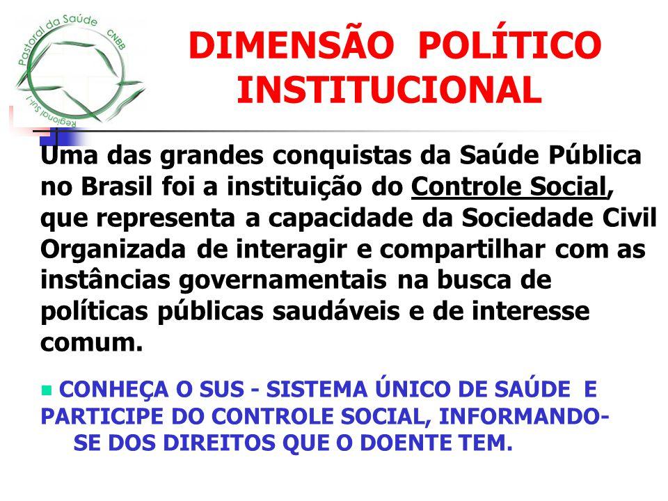 Uma das grandes conquistas da Saúde Pública no Brasil foi a instituição do Controle Social, que representa a capacidade da Sociedade Civil Organizada