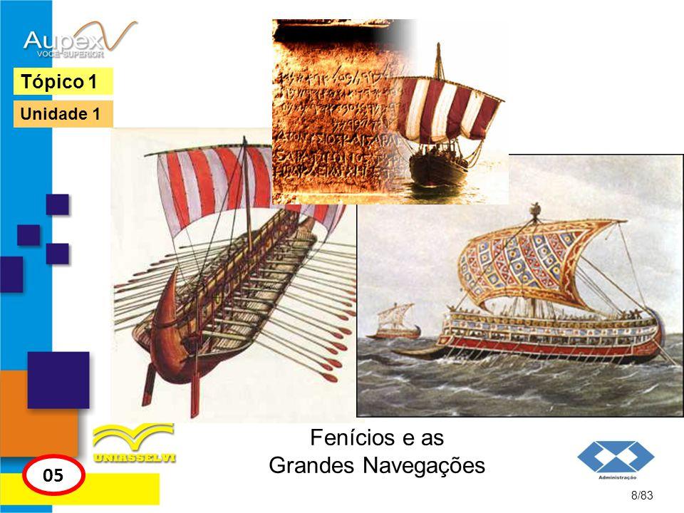 Fenícios e as Grandes Navegações 8/83 Tópico 1 05 Unidade 1