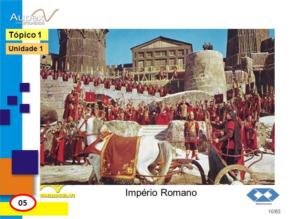 Império Romano 10/83 Tópico 1 05 Unidade 1