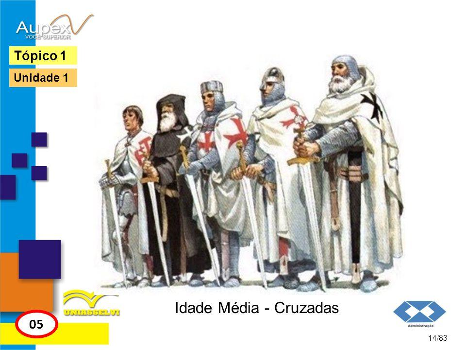Idade Média - Cruzadas 14/83 Tópico 1 05 Unidade 1