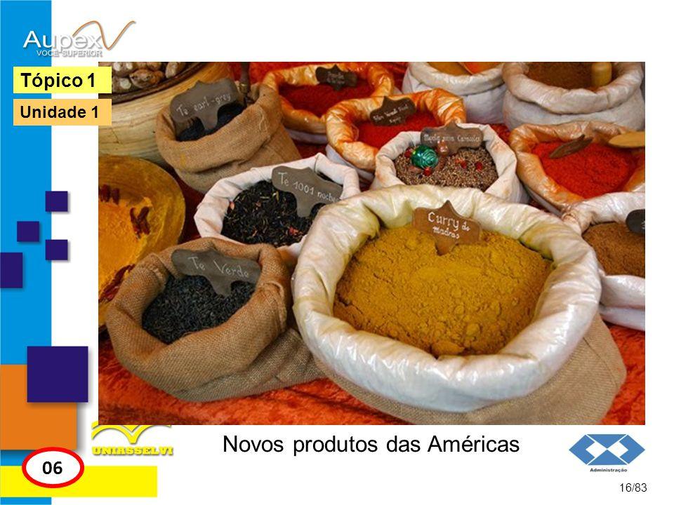 Novos produtos das Américas 16/83 Tópico 1 06 Unidade 1