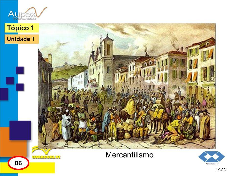 Mercantilismo 19/83 Tópico 1 06 Unidade 1