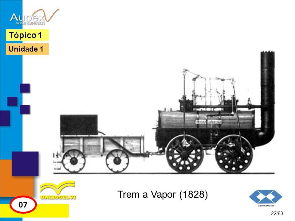 Trem a Vapor (1828) 22/83 Tópico 1 07 Unidade 1