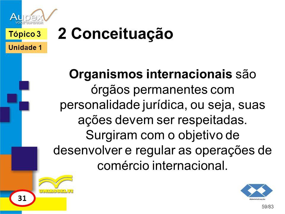 2 Conceituação Organismos internacionais são órgãos permanentes com personalidade jurídica, ou seja, suas ações devem ser respeitadas. Surgiram com o