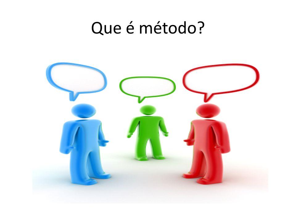 Que é metodologia Vem da palavra MÉTODO Palavra grega composta: META + ODOS Preposição: para a...Depois de...