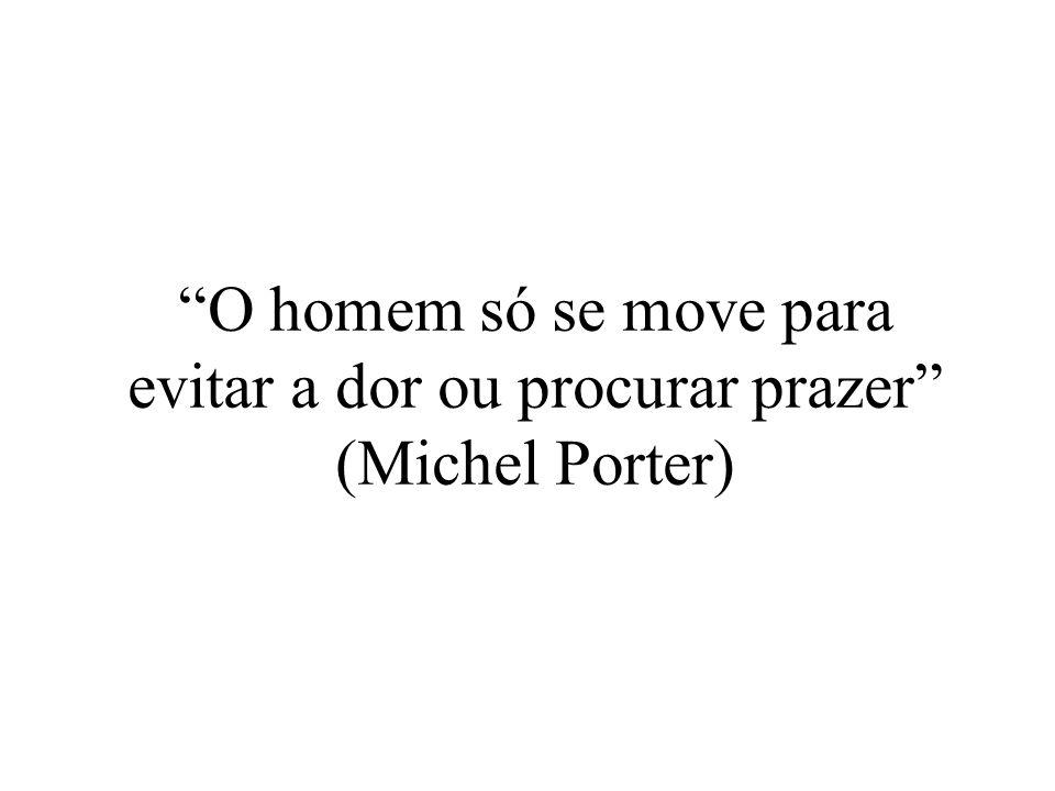 O homem só se move para evitar a dor ou procurar prazer (Michel Porter)