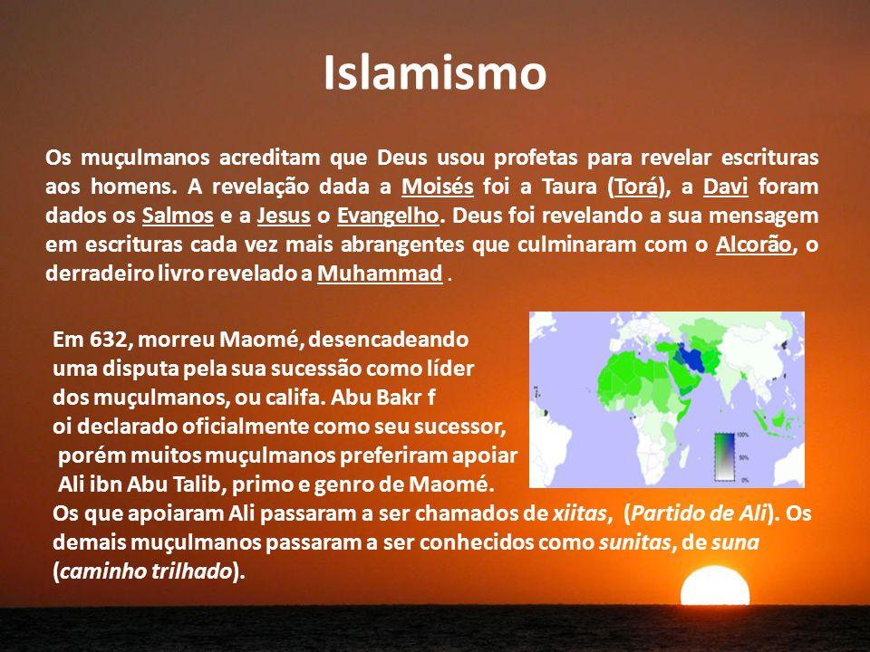 Islamismo Os muçulmanos acreditam que Deus usou profetas para revelar escrituras aos homens.